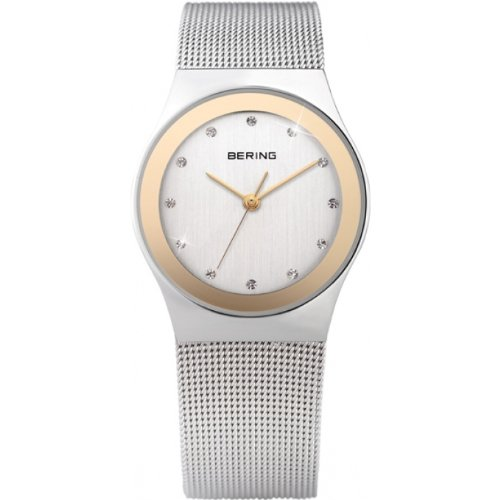 BERING Time 12927-010 Womens Classic Collection Watch with Mesh Band and scratch resistant sapphire crystal. Designed in Denmark.