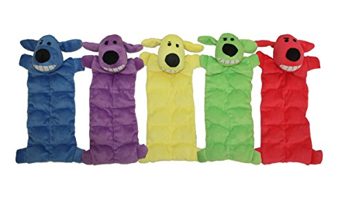 - Multipet 12-Inch Squeaker Mat Soft Plush Dog Toy with 13 Squeakers, Colors may vary