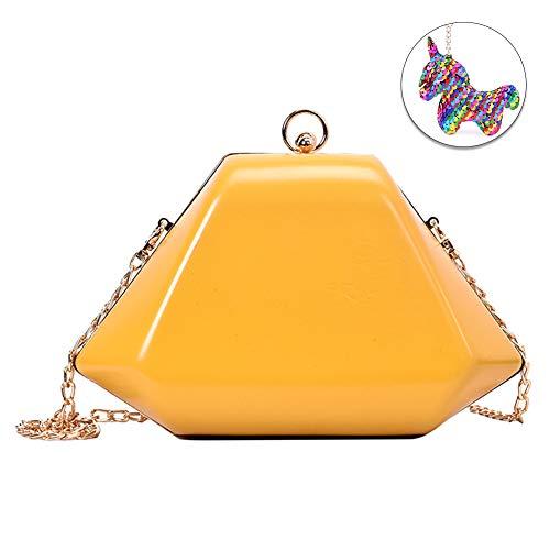 (Woolala Shoulder Bag for Women/Girls Clutch Chain Strap Elegant Crossbody)