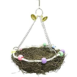 Smdoxi Bird Hammock Hanging Bed Pet Dog Cat Bed Hammock Style By Parrot Hamster Bed Playground Trampoline Swing Nest (L)