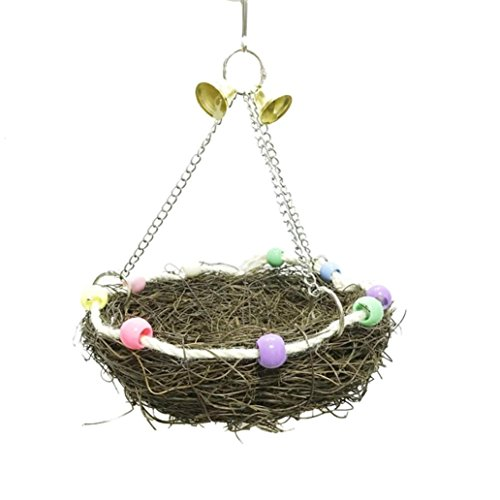 Price comparison product image Bird Hammock Hanging Bed Pet Dog Cat Bed Hammock Style By Smdoxi Parrot Hamster Bed Playground Trampoline Swing Nest (S)