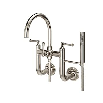 Pfister LG6-3TB Tisbury Wall Mounted Tub Filler with Hand Shower ...