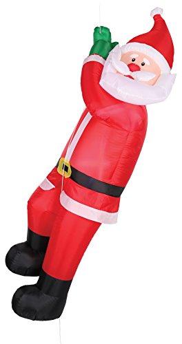 UHC Inflatable Animated Climbing Santa Holiday Festival Christmas Decoration -