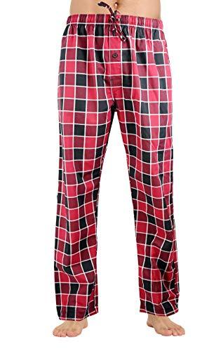 (CYZ Men's 100% Cotton Poplin Pajama Lounge Sleep Pant-Merlot-M)