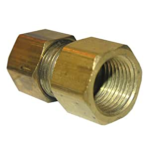 LASCO 17-6649 1/2-Inch Compression by 3/8-Inch Female Pipe Thread Brass Adapter