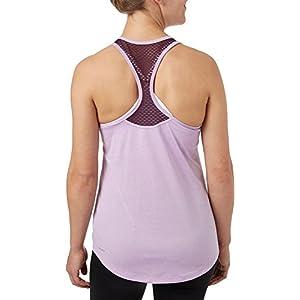 Reebok Women's T-Back Tank Top, (Hthr Sprg Lilac Tonal Dd, XL)