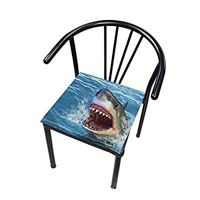 Bardic FICOO Home Patio Chair Cushion Sea Shark Square Cushion Non-Slip Memory Foam Outdoor Seat Cushion, 16x16 Inch: Home & Kitchen