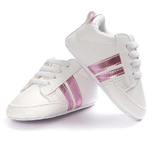 White Stripe Infant Shoe - 7