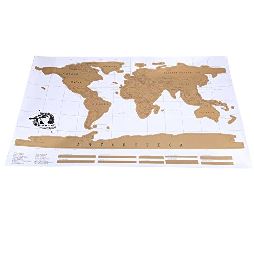 World Map - Map Of The World - 2017 Travel Scratch Off Map Personalized World Map Poster Traveler Vacation Log National Geographic Wall Sticker Home Decor Gift - Big World - Maryland Harbor National Map