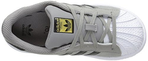 adidas Originals Kinder Superstar Sneaker (großes Kind / kleines Kind / Kleinkind / Kleinkind) Grau / Schwarz / Weiß