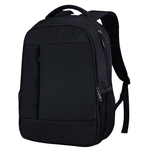 AMOS Bolsa de hombro de negocios Hombre Mochila Moda Casual Bolsa De Estudiante Femenino Bolso De La Computadora De Los Hombres Bolsa De Viaje ( Color : Negro ) Negro