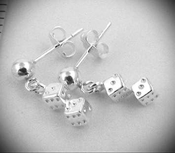 Diamante Pendientes Oro Único Máscara Forma Stud Pendientes