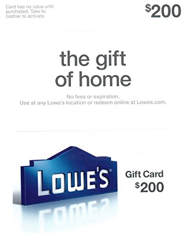 Lowes  200 Gift Card