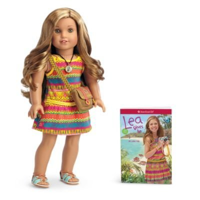 Lea Doll & Book with Pierced Ears and 3 Sets of Earrings by American Girl