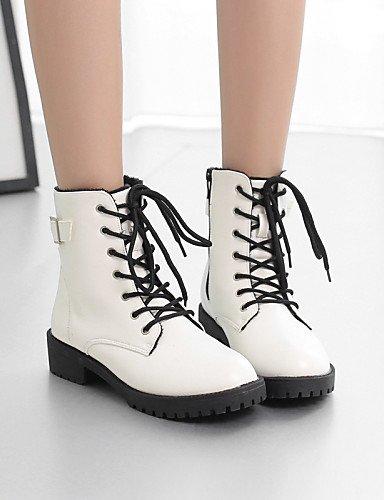 Exterior us6 De Zapatos us8 Cn37 Mujer Xzz Botas Napa La Plano 7 A negro Cn39 Tacón Uk4 5 Casual White Anfibias White 5 Eu37 Eu39 Moda Nieve 5 Uk6 Oxfords 7Bqwdw