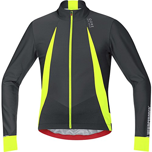 GORE BIKE WEAR, Men´s, Cyclist Jersey, Long sleeves, Warm, GORE WINDSTOPPER, OXYGEN, Size M, Black/Neon Yellow, (Gore Bike Wear Mesh Jersey)