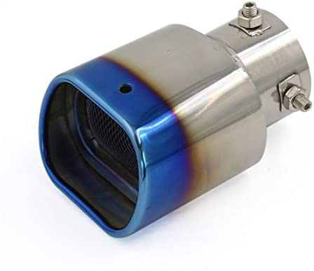 DealMux Universal Titanium azul silenciador de escape silencioso Dica Cachimbo para carro