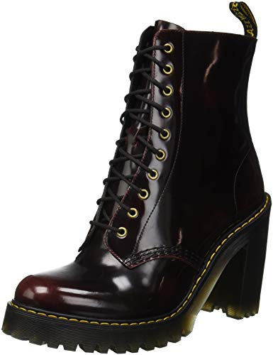 Dr. Martens Women's Kendra Fashion Boot, Cherry Red, 6 Medium UK (8 US)