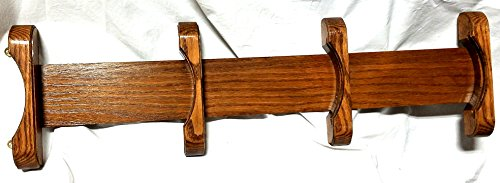 (Wooden Oak Plate Rail - Holds 4 Plates - Vertical)
