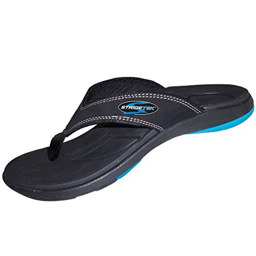Stridetek Flipthotics Orthotic Sandals - Arch Support, Metatarsal Riser Pad & Deep Heel Cup Prevent...