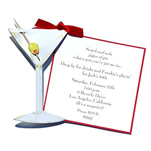 Martini Die-cut Card, Pack of 10