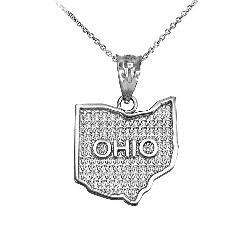 ndant Necklace in 10k White Gold, 16