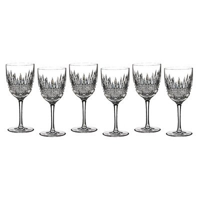Waterford Crystal Lismore Diamond White Wine Set of 6