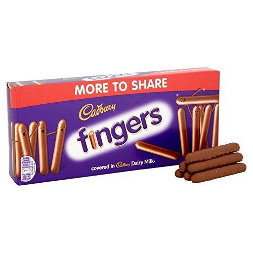 Cadbury Milk Chocolate Fingers 138g (Pack of 2)