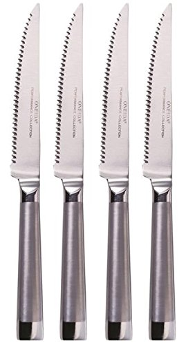 Oneida 4 Piece Oval Handle Stainless Steel Steak Knife - Steel Stainless Knife Set Oneida