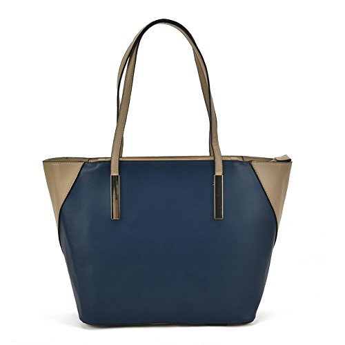 SALLY YOUNG Fashion Women Classic Large Shopper Bag Shoulder Bags for Work Travel Satchels for Girls Navy