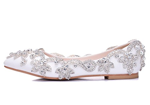 Joymod EU Femme Sandales Compensées 5 Blanc 36 MGM Blanc wfqSxw