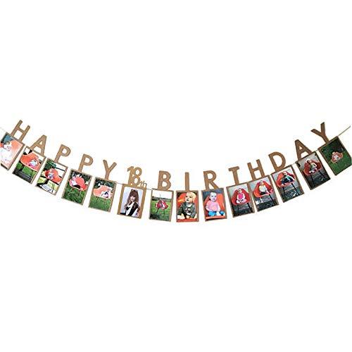 (Hatcher lee Happy 18th Birthday Sweet Eighteen 18 Years Photo Banner for 18th Birthday Bunting Kraft)