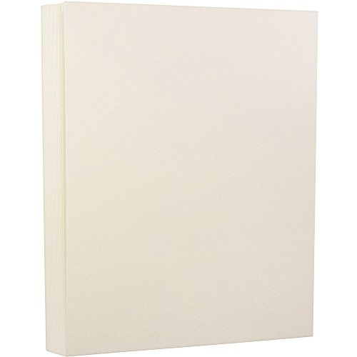 JAM Paper Strathmore Cardstock - 80 lb Natural White Linen - 30% recycled - 50 Sheets/Pack by JAM Paper