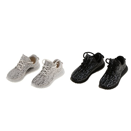 Baoblaze 1/6 Lace Up Sneakers Sports Shoes for 12'' Enterbay/Phicen/CY Figures 2Pairs lk2lV