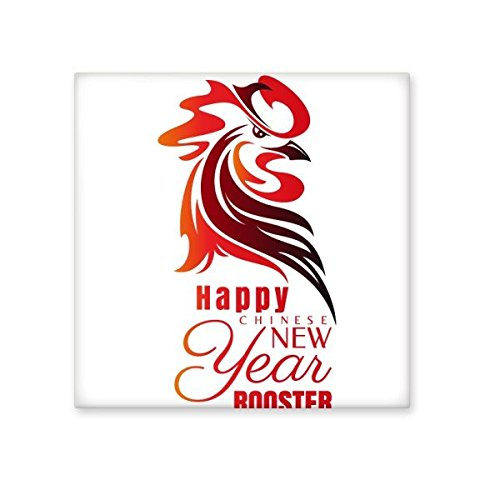 Chinese Zodiac Sign Happy New Year 2017 Year of the Rooster Pattern Illustration Ceramic Bisque Tiles for Decorating Bathroom Decor Kitchen Ceramic Tiles Wall Tiles 30%OFF