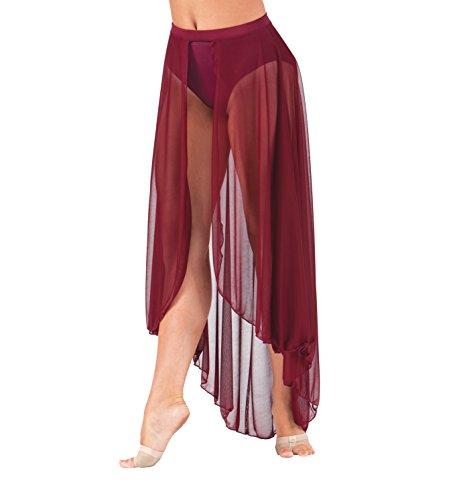 Body Wrappers Adult Long Mesh Dance Skirt,BW9105WHTXSS,White,XSS