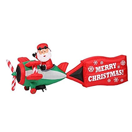 amazon com home accents holiday 16 ft inflatable airblown santa on