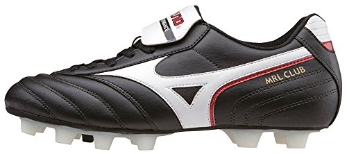 Mizuno de Chaussures Red Homme Black White Club 01 MD Football MRL Noir qtCqZxA