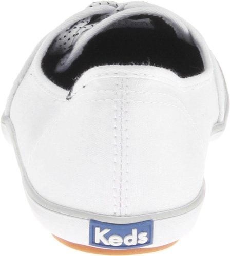 Keds TEACUP CVO Teacup - Bailarinas de lona para mujer, color blanco, talla 37 negro - Black and White