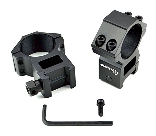 Sniper® 30 mm High Profile Scope Rings for Picatinny/ Weave