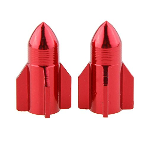 The Source Force Rocket Ship Bike Valve Covers (Set of 2) Red