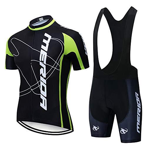 CHHBS Fietskleding voor de zomer, heren, korte mouwen, fietsshorts, gelpads, MTB voor racefietsen