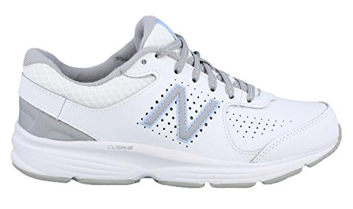 Women's New Balance, 411v2 Walking Sneakers WHITE BLUE 9 B