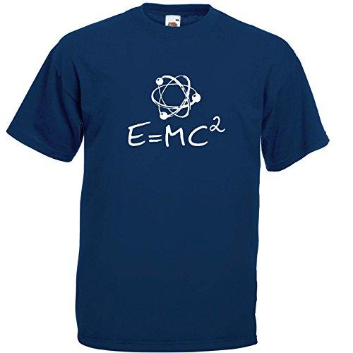 Atom Fun T-Shirt Navy Blau / Druck Weiß