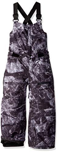 Quiksilver Big Boys' Stratus Youth Bib 10K Snow Pants, Black Tannenbaum, 10/M -