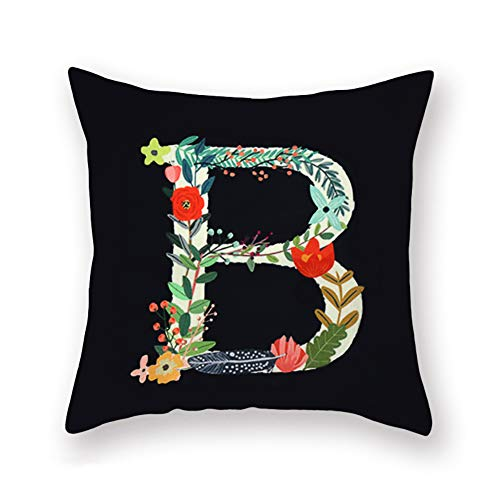 Letter English Alphabet - Fukeen Black Throw Pillow Covers English Alphabet