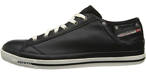 Stivali Scarpe Donne Lo iv Top Sneaker Bianco Nero Exposure Pelle Nuove Diesel qvgUx4q