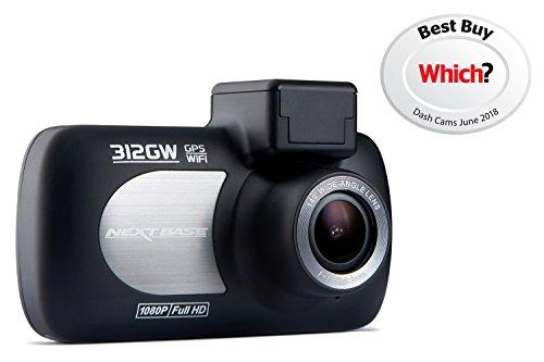 Nextbase 312GW Full 1080p HD In Car Dash Cam, Black, 87 x 58 x 19 mm (37mm...