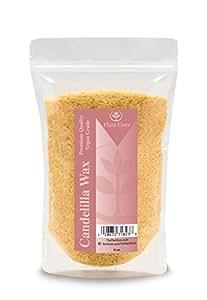 Premium Candelilla Wax (Vegan Wax) 100% Natural and Pure Wax Flakes, 8 oz.