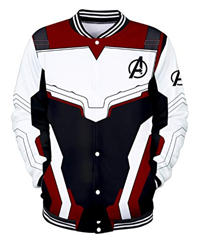SunnTT Halloween Quantum Realm Hoodies Jacket Cosplay Costumes (J, XXXL) -